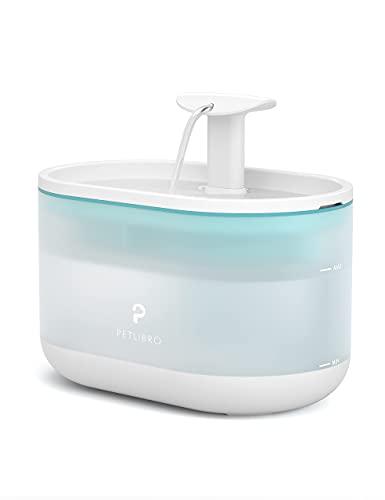 PETLIBRO Trinkbrunnen für Katze Ultraleise mit Zwei Durchflussmodi,BPA-freie Capsule Katzenbrunnen, 71oz/2.1L Sichtbarer Wasserstand mit Filter für Katzen & Hunde