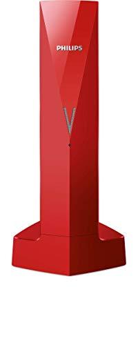 PHILIPS M3501R/23 - Teléfono inalámbrico Color Rojo, diseño Linea V