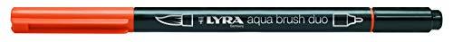 Lyra 6520013 - Rotulador acuarelable, doble punta, color naranja claro