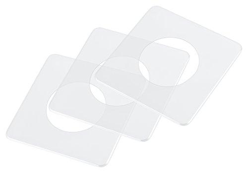 pekarek® Spar-Set : Schutz / Dekor Platte Transparent – 1 fach (5 Stück) + 2 fach (5 Stück)