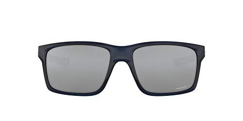 Oakley Men's OO9264 Mainlink Rectangular Sunglasses, Translucent Poseidon/Prizm Black, 61 mm
