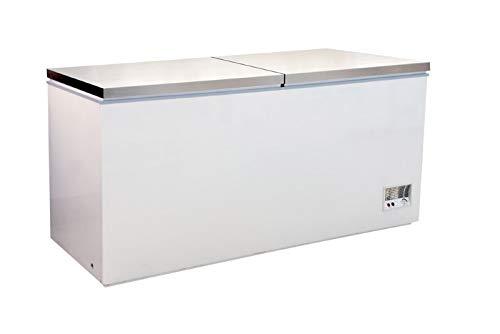 Tiefkühltruhe mit Klappdeckel Kühltruhe Truhe 768 Liter inkl. 2 Körbe Gefriertruhe