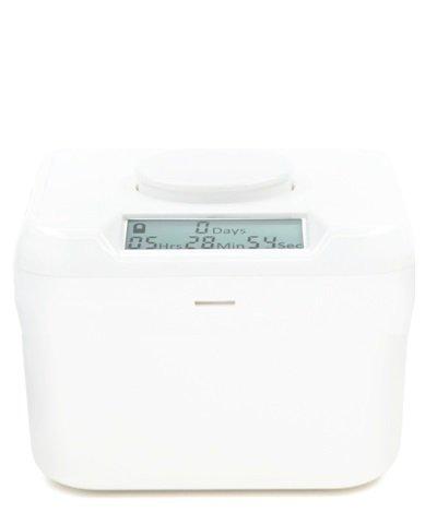 "Kitchen Safe Mini: Time Locking Container (White Lid + White Base) - 2.0"" Height"