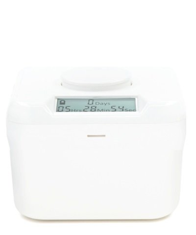 Kitchen Safe Mini: Time Locking Container (White Lid + White Base) - 2.0' Height