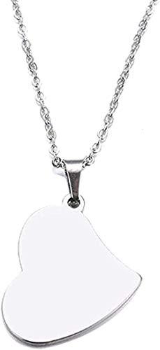 NC110 Collar Collar de Acero Inoxidable Collar con Colgante de corazón Real Tamaño de la joyería 45Cm YUAHJIGE