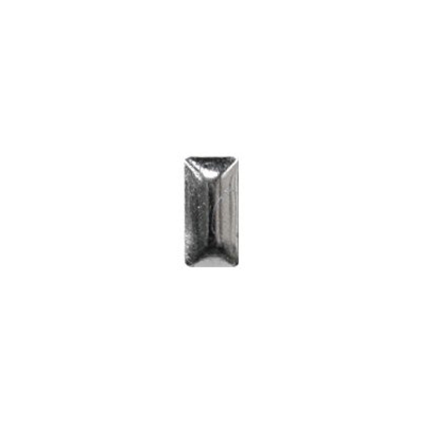 マトン合法秘密のピアドラ スタッズ メタル長方形 2×4mm 50P シルバー