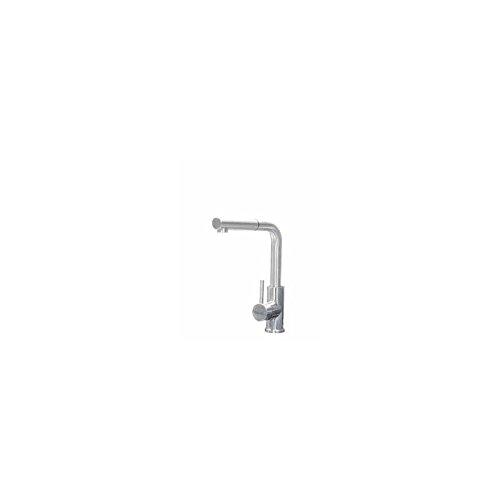 Cata 2500005 Grifo de Cocina Modelo XSA | Monomando estraíble | Cartucho cerámico | Caño extraíble, Giratorio y aireador | Agua fría y Caliente | Diseño clásico, INOX