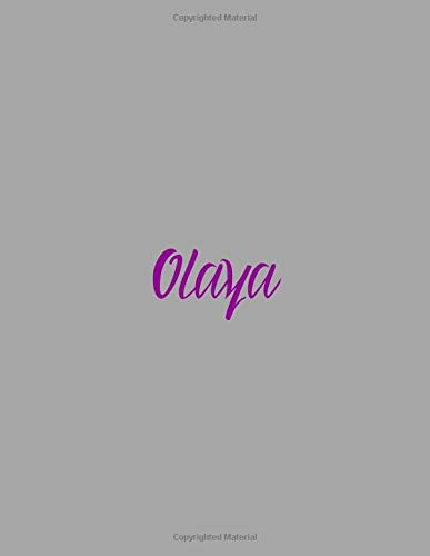 Olaya: notebook with the name on the cover, elegant, discreet, official notebook...