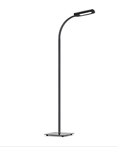 Stehlampe, LED Stehleuchte Dimmbar, TECKIN Leselampe Standleuchte fur Wohnzimme und Schlafzimmer, hohe 50.000 Stunden Lebensdauer, 3 Farbtemperaturen, 4 Stufe Helligkeit(Schwarz)
