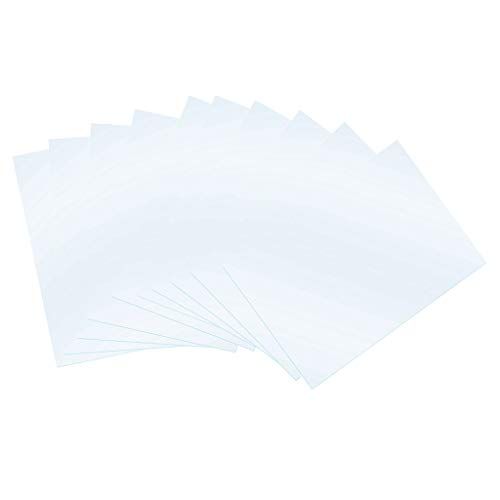 B Blesiya 10 Pieces FEP Release Film For 5.5 Inch UV 3D Printers 140x200mmx0.1mm