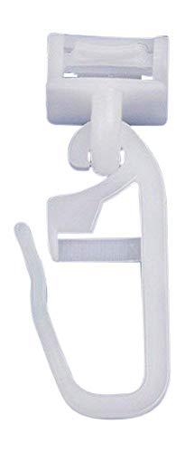 dekondo Click Fix deslizador de cortina, gancho para cinta fruncida, adecuado para rieles de cortina, ranura de 6 – 6,5 mm