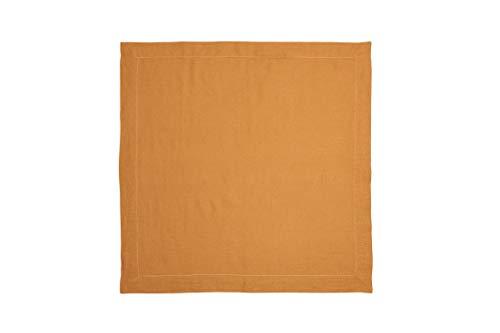 Guardanapo de Linho (Kit com 2) Coleção Especiarias, Acervo Panelinha, Amarelo Curry, Algodão