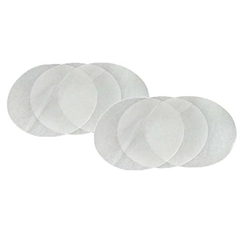 ZHIXX MALL Hornear redondo de doble cara de silicona papel de aceite de hamburguesa prensa papel horno parrilla bandeja de hornear