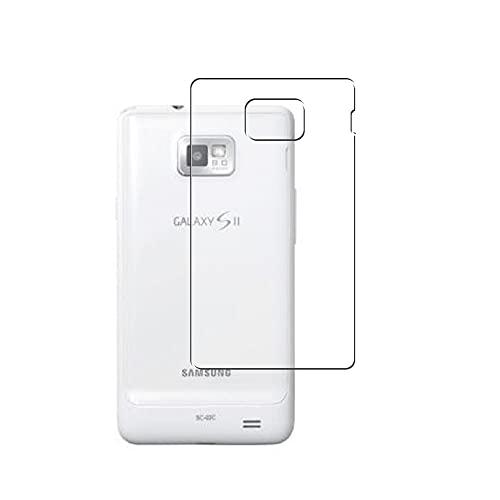 Vaxson 2 Unidades Protector de pantalla Posterior, compatible con docomo GALAXY S II SC-02C SAMSUNG S2 [No Vidrio Templado] TPU Película Protectora Espalda Skin Cover