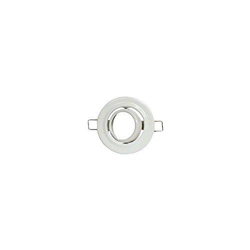 Support encastrement spot LED orientable Finition en métal Blanc