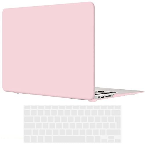 TECOOL Funda MacBook Air 13 Pulgadas (Versión: 2010-2017, Modelo: A1466 / A1369), Delgado Cubierta Plástico Dura Case Carcasa con Tapa del Teclado para MacBook Air 13.3 Pulgada - Cuarzo Rosa