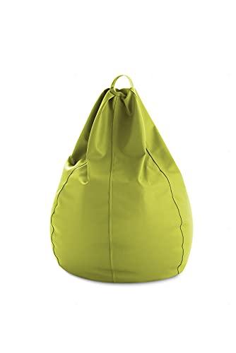 textil-home Puf - Puff Pera XXL moldeable -90x90x130 cm- Color Pistacho. Tejido PVC Alta Resistencia - Doble repunte - (Incluye Relleno Bolas Poliestireno).
