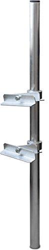Satix Sat Aluminium-Klemmhalterung Satelliten-Schüssel für Balkon-Geländer