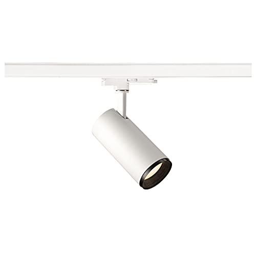 SLV Numinos Dali M/LED, Foco de 3 Fases, lámpara de Techo, Sistema de rieles, iluminación Interior, 3000 K, 20,1 W, 1880 LM, Color Blanco, Regulable 60 Grados