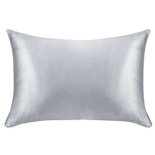 Haya - Funda de almohada de microfibra, fácil de lavar y supersuave, gris, 13 x 18 pulgadas (1 unidad)