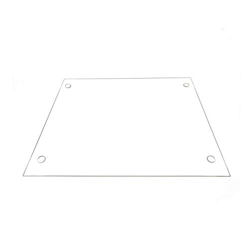 310mm x 370mm x 3mm Borosilicate Glass Plate with Screw Holes for Tevo Tornado 3D Printers, Perfectly Flat Glass With Polished Edges