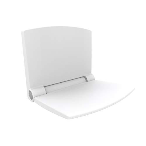 Sanit Duschsitz Lifestyle (für Dusche, Bad ergonomische Sitzfläche Absenkautomatik Farbe weiß) weiß, 54.002.01.0000