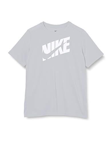 NIKE B Nk Hbr+ Perf Top SS Camiseta de Manga Corta, Niños, lt Smoke Grey/(White), M