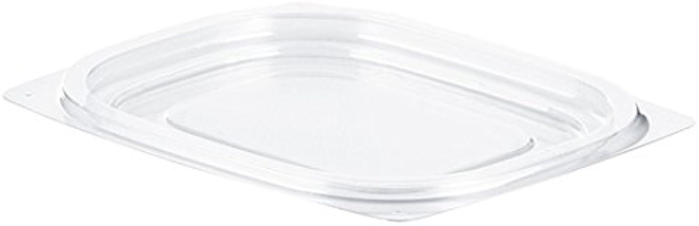 Dart C6DLR Clear Plastic Flat Snap-on Lid - Fits 4-6 oz (Case of 1008)