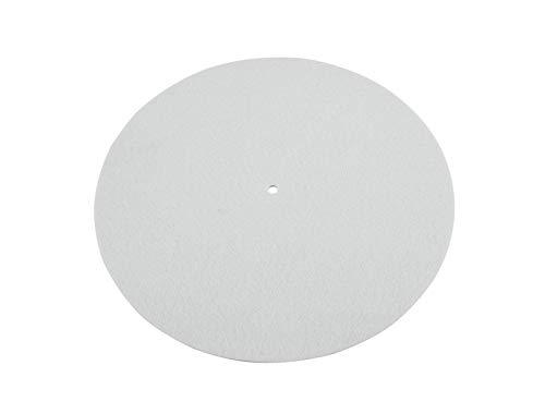 OMNITRONIC Slipmat, antistatisch, neutral weiß | | Schont den Motor des Plattenspielers und schützt die Schallplatten