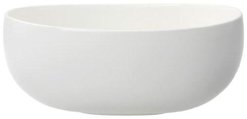 Villeroy & Boch Urban Nature Schüssel, runde und elegante Schale aus Premium Porzellan in dezentem weiß, spülmaschinenfest, 29.5 cm
