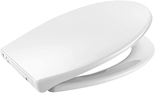 Tavoletta WC Ovale, APEXFORGE Copriwater Universale PP Polipropilene Chiusura Ammortizzata Installazione Rapida Pulizia Facile Coperchio Sedile Wc Bagno Leggero Bianco O Forma ATSTY12