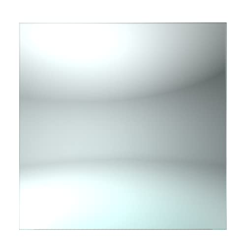 Blue Diamond - Tablero de Vidrio para Mesa Cuadrada - 800 mm - Grosor de 8 mm - Elaborada con Vidrio Templado - Tablero de Vidrio Transparente - Fabricado en España