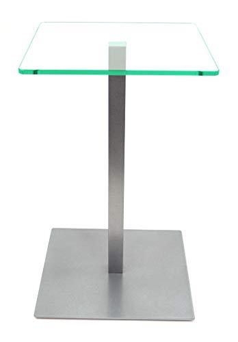 freeroom24 Beistelltisch, Tisch, Couchtisch Johannes in Silber Brillant, 30 x 30 x 80cm