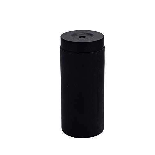 Nachfüllbarer Spülmittelspender aus Silikon, geteilte Flasche, einfach zu drücken, Seifenspender, Handseife, Flasche, ätherisches Öl, Lotion, Shampoo, Conditioner, Spülmittel, Dosierflasche, schwarz