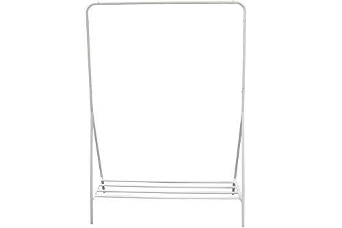 HOMELINE Metall Kleiderständer mit Ablage 155 x 110 x 55 cm weiß