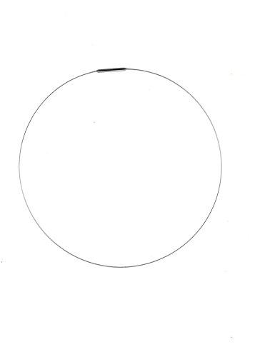 AQT 09.006 Damen Halsreif, 1 reihig, Stahl Reif, mit Bajonett Verschluss aus Edelstahl, Länge (wählbar) 38 cm - 55 cm (42)