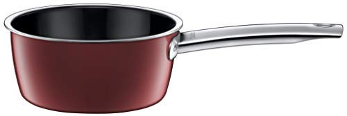 Silit Vitaliano Rosso Stielkasserolle 16 cm, ohne Deckel, Kochtopf 1,3l, Milchtopf, Silargan Funktionskeramik, Topf Induktion, dunkelrot