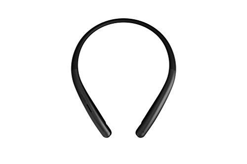 LG Tone HBS-SL6SB - Auriculares inalámbricos (Altavoz Externo, Manos Libres, Sonido Meridian, Bluetooth 5.0, Carga rápida, Doble micrófono, Compatible para Conducir, Color Negro)