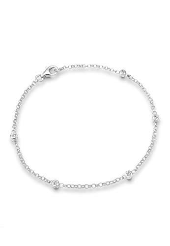 Elli Damen-Armband Klassik 925 Sterling Silber mit Kristallen von Swarovski Länge 19cm 0209711611_19