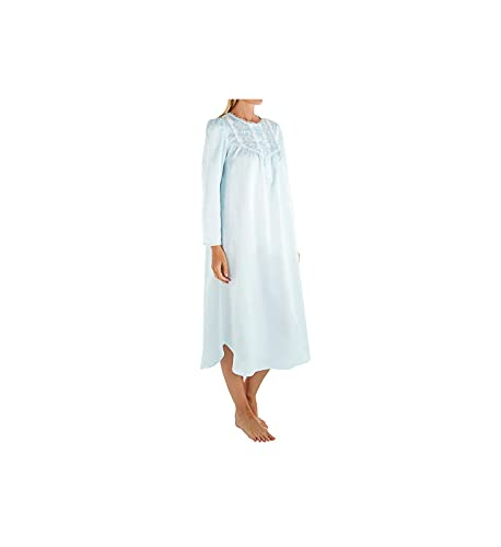 Miss Elaine Women s Brushed Back Satin Long Gown 541160 XL Blue