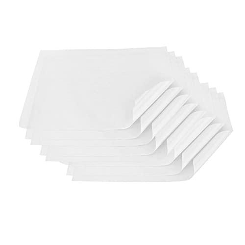 6SHINE Hojas de papel para hornear, 8 piezas de papel antiadherente resistente para hornear, perfecto para hornear freidora de aire al vapor, taza de pan y más (blanco, tamaño: 40 x 60 cm)