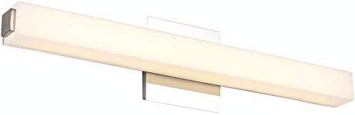 Shuai prachtige lamp/* moderne spiegel LED-koplamp badkamer vocht waterdicht anti-condens-lamp kaptafel wandlamp (kleur: warm wit, licht 42 cm)