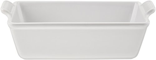 Le Creuset Stoneware Heritage Loaf Pan, 9' x 5' x 3' (1.5 qt.), White