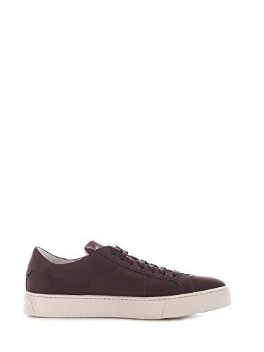 Luxury Fashion | Santoni Heren MBGL21012PNNXSO0T50 Bruin Leer Sneakers | Seizoen Outlet