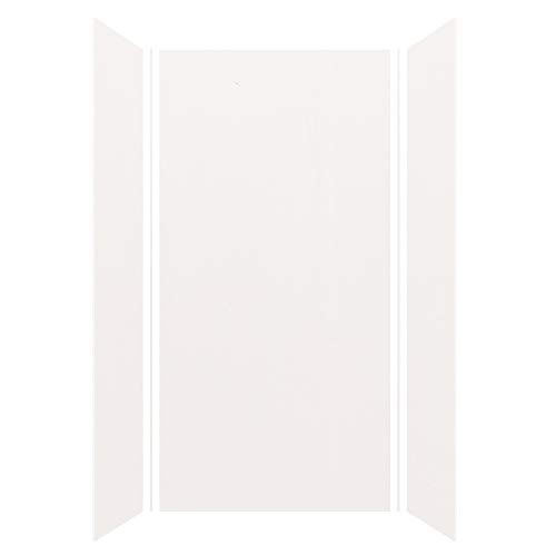 Transolid Expressions 36-in X 48-in X 96-in Glue to Wall Shower Wall Kit in White
