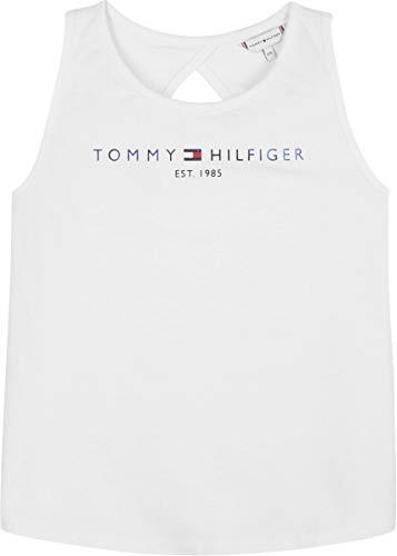 Tommy Hilfiger Graphic Tanktop Camisa, Blanco, 44 para Niñas