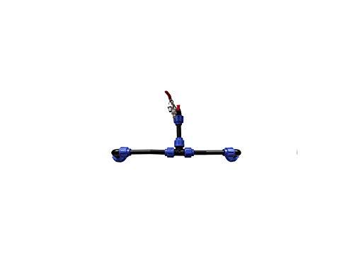 VOXTRADE Verbindungsset Fuer IBC Regenwassertanks Regenfässern und Kanistern (Set für 2-6 Tanks) (2)