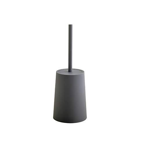 litty089 Plastic Badkamer Sanitairreiniger Lange Handvat Reiniging Toiletborstel met Basisbenodigdheden - Zwart Grey Grijs