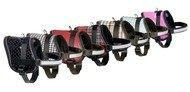 Teeny Weeny Geschirre für kleine Hunde schwarz weiß 36-46cm x 15mm #60181
