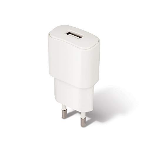 Forever Oplader USB-poort, snellader 2A, universele voeding voor mobiele telefoons smartphone, tablet, UVM, laadadapter, stekkeradapter wandlader, netstekker, wit